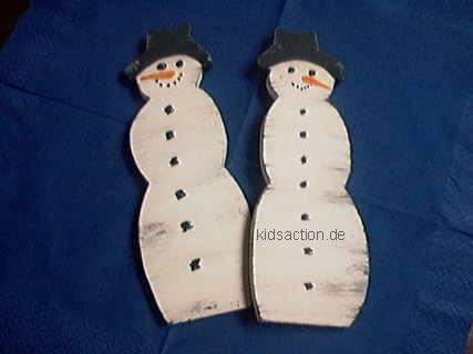 basteln.kidsaction.de - basteln für weihnachten schneemann